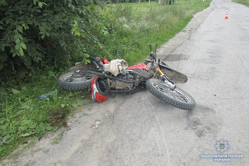 На Хмельниччині під час ДТП постраждали мотоцикліст та його пасажир. Ф