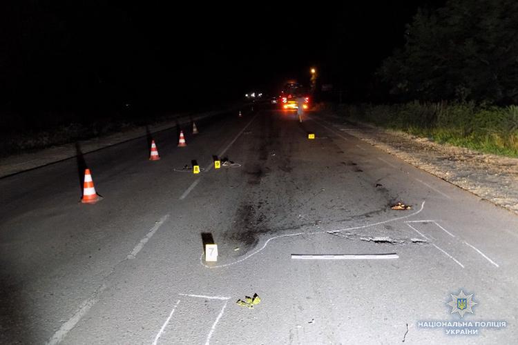 На Тернопільщині водій збив перехожого і втік з місця ДТП. ФОТО