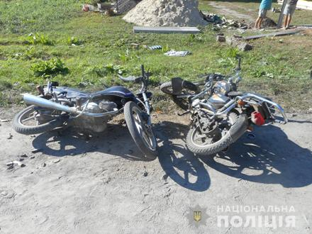 На Рівненщині зіткнулись мотоцикл та мопед, один із вершників у шпитал