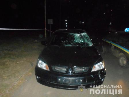 На Харківщині автомобіль збив літнього чоловіка на велосипеді. ФОТО