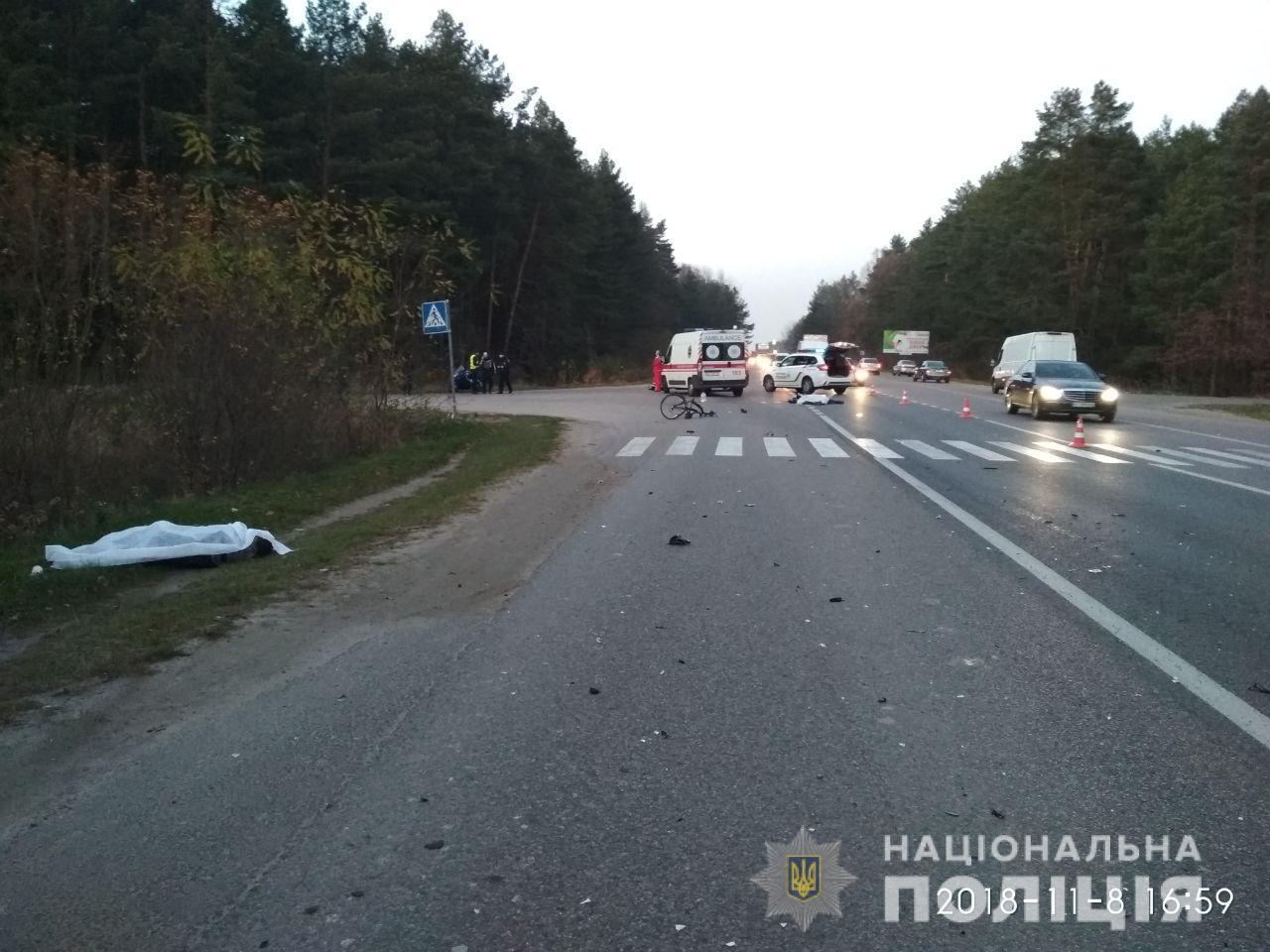 Під час жахливого зіткнення на Львівщині загинули велосипедист та мото