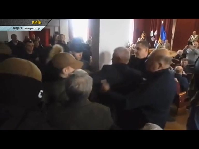У Київському палаці ветеранів сталася бійка. ВІДЕО