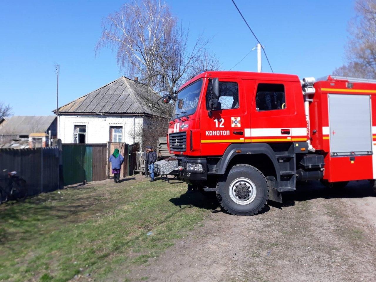 На Сумщині майже одразу після початку пожежі загинули двоє чоловіків.