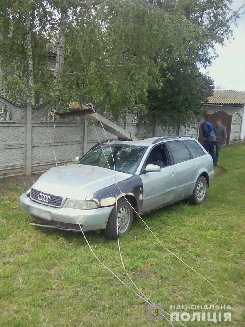 На Чернігівщині через п'яного водія сільська вулиця була знеструмлена